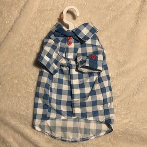 🐶 Blue & White Checkered Dog Shirt 🐶